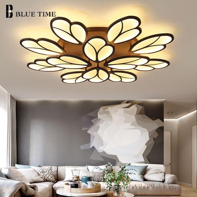 Coffee Frame Perfect Modern Led Ceiling Light For Living Room Bedroom Acrylic Home Indoor Lighting Fixtures Ac90v 260v