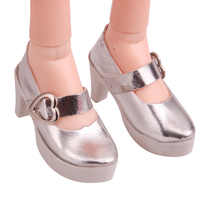 BJD 60 cm Dolls shoes Fashionable shiny silver heels 1/3 Girl 75 cm doll 7.5 cm dress shoes toys accessories b7-24