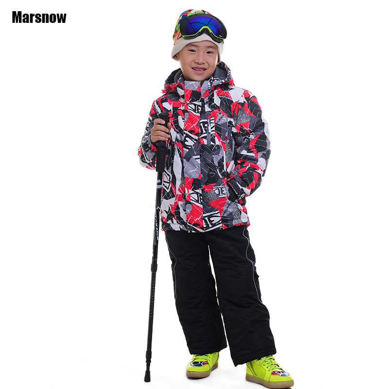 110-164 winter suit children wear 2016 clothing set windproof ski jackets+pant girls boys outdoor warm baby kids snow suits