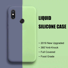 Full Protector Case Xiaomi Mi A2 Phone Cover For Xiomi MiA2 Liquid Silicone Soft Back