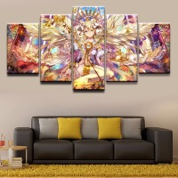 Decoration Pictures Home Decor Paintings On Canvas 5 Panel Anime Original Angel Girl Posters And Prints