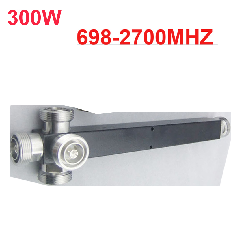 Séparateur de puissance de cavité d'utilisation de télécom 300 W diviseur de puissance de signal de téléphone de 4 manières diviseur de fréquence de 698-2700 Mhz pour la communication