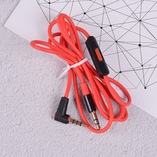 3.5mm Audio Replacement Cable Inline Remote Mic Microphone Headset For QC3 Headphones For Aux/cord Beats Solo/studio/earphones