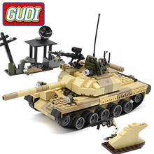 GUDI Legoings Military Weapon Armed T-62 Tank Block 372pcs Bricks Building Blocks Sets Models Educational Toys For Children