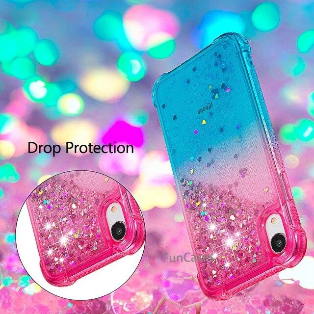 Para o iphone xr líquido duro pc claro escudo do telefone para iphone xr casos de areia movediça capa cute app ícone capa para iphone xr capa 1