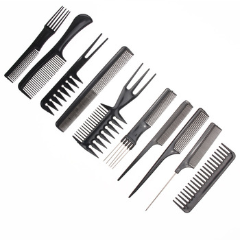 10pcs/Set Professional Hair Brush Comb Salon Styling Tools