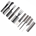 10pcs Professional Hair Combs Kits Salon Barber Comb Brushes Anti-static Hairbrush Hair Care Styling Tools Set kit for Hair Salo