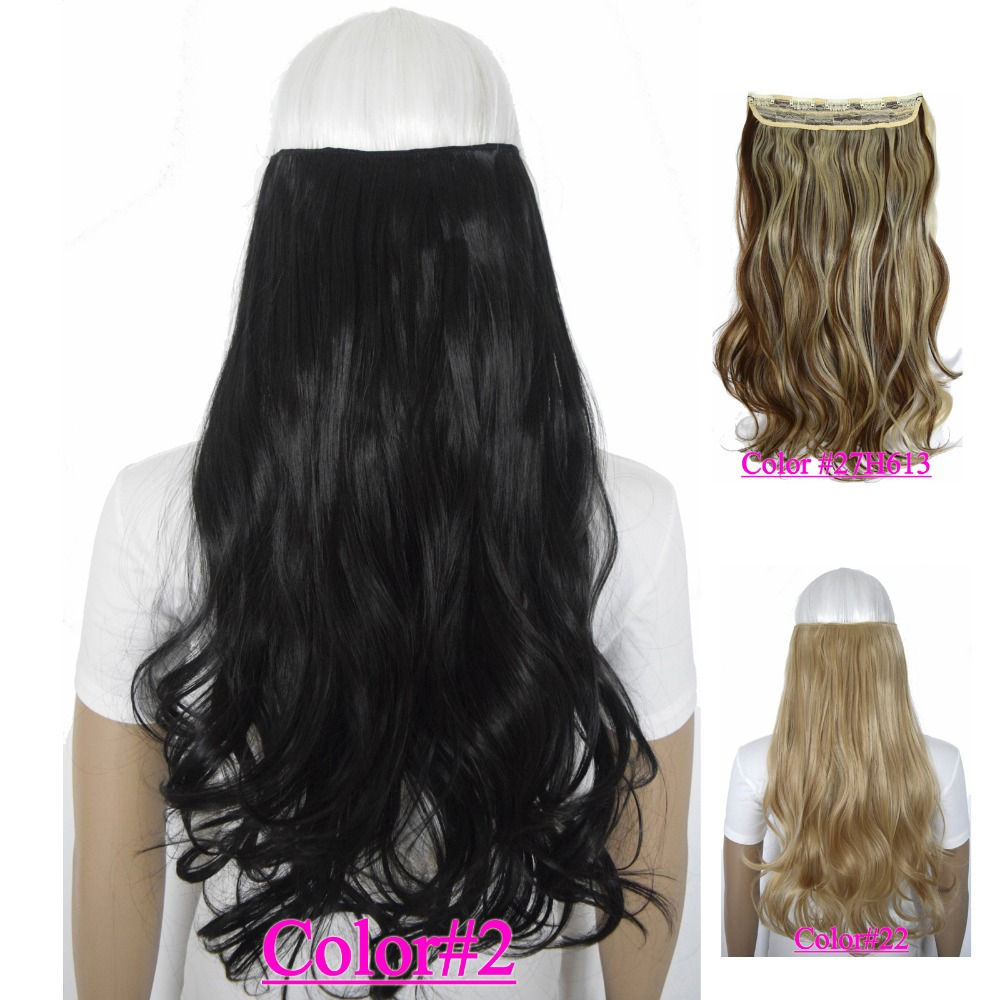 24 60cm 120g Body Wave 5 Clips On Hair Piece Clip In Hair