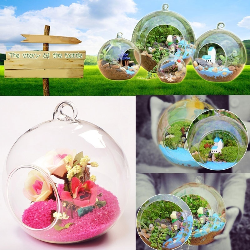 aeProduct.getSubject() - Aliexpress.com : Buy New Clear Round Hanging Glass Vase Bottle