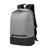 Anti Theft Sports Outdoor Waterproof City Walking Backpack Large Capacity With USB Charge Funtion Black Grey