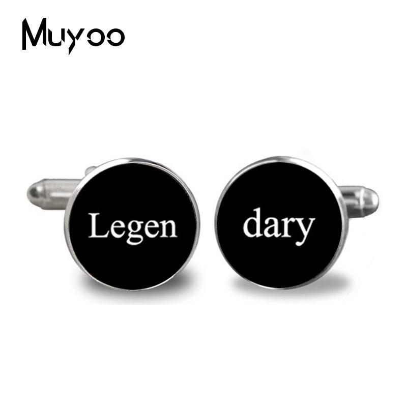 2017 Classic Legen Cufflinks Silver Plated Cuff-Button Accessories Barney Stinson Quote Jewelry Unique Wedding Gifts For Men