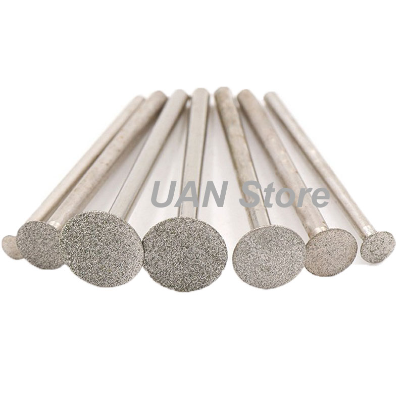 URANN 3mm 4mm 8mm 10mm 12mm 14mm Super-Thin Slice Diamond Grinding Head Dremel Rotary Carving Polishing Cutting Tools