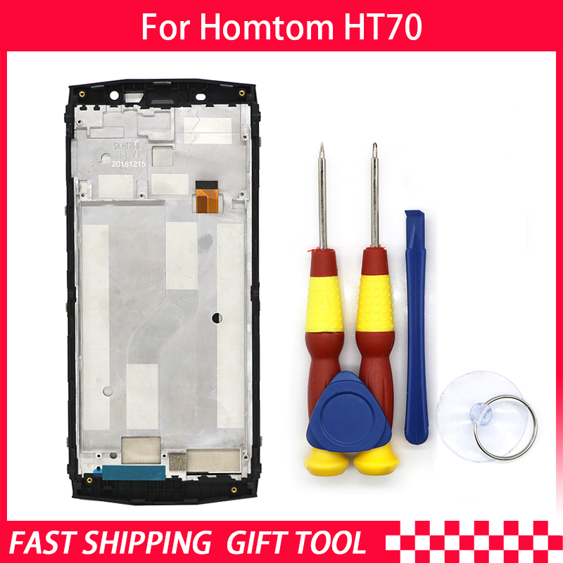 New original Touch Screen LCD For HOMTOM HT70 Screen LCD Display Digitizer Assembly With Frame Replacement PartsNew original Touch Screen LCD For HOMTOM HT70 Screen LCD Display Digitizer Assembly With Frame Replacement Parts