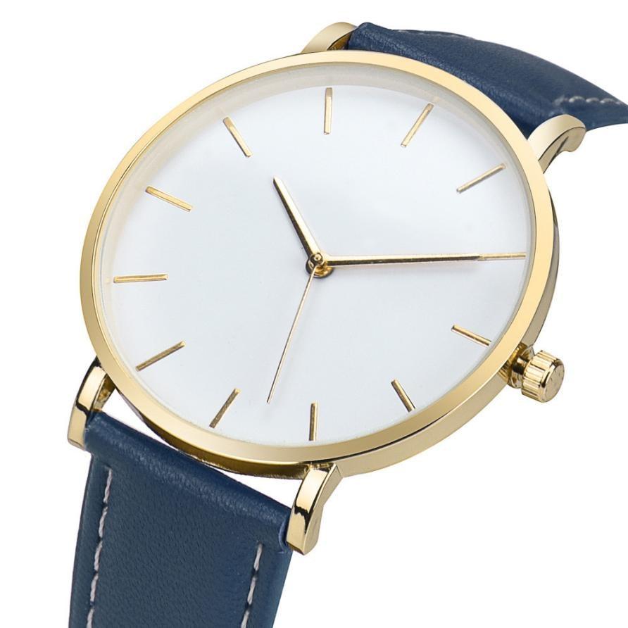 Retro Design Quartz Watch Women Luxury Brand PU Leather Simple Watches Women's Vogue Analog Alloy Wrist Watch Business Style #Z