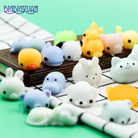 30pcs DIY Soft Decompression Squishy Fox Hippo Seal Cell Phone Straps Cute Animals Rabbits Panda Cats