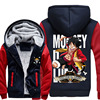 New High Quality One Piece Hoodie Anime Roronoa Zoro Sanji Luffy Cosplay Coat Jacket Winter Men