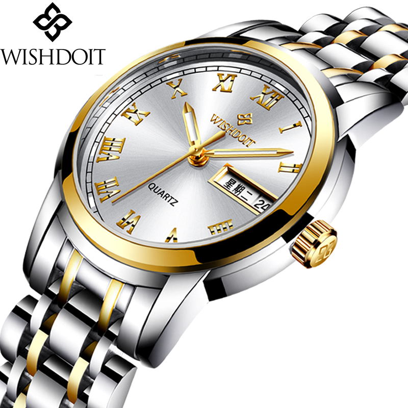 WISHDOIT Womens Watches Top Brand Luxury Fashion Casual Watch Womens Stainless Sport Waterproof Quartz Watch Relogio FemininoWISHDOIT Womens Watches Top Brand Luxury Fashion Casual Watch Womens Stainless Sport Waterproof Quartz Watch Relogio Feminino