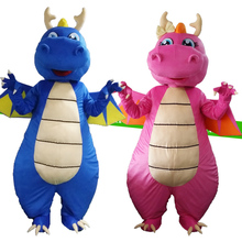 Professional New Dragon Mascot Costume Fancy Cosplay Mascotte for Adults Gift Halloween Carnival party