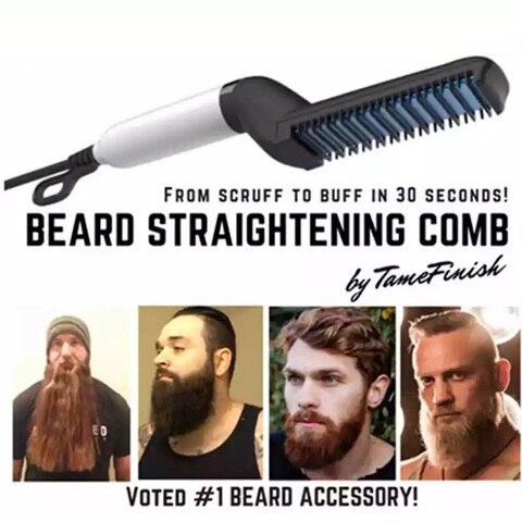 Men Beard Straightener Styling comb Multifunctional Curling Straight Tool Hair Electric Hair Styler Brush For Men Permed Comb Pakistan