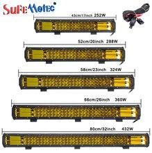 17 20 23 26 32 Inch 360W Triple Rij Led Verlichting Bar Amber Combo Fog Drive Lampen Voor offroad Vrachtwagens Boot Atv 4X4 4WD Marine