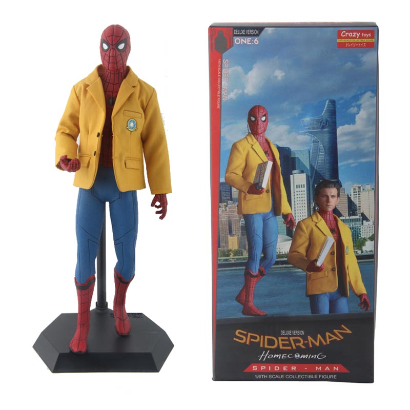 Marvel Spiderman figurines d'action The Avengers SpiderMan Coming Home Deluxe Ver Fou Jouets 40 cm