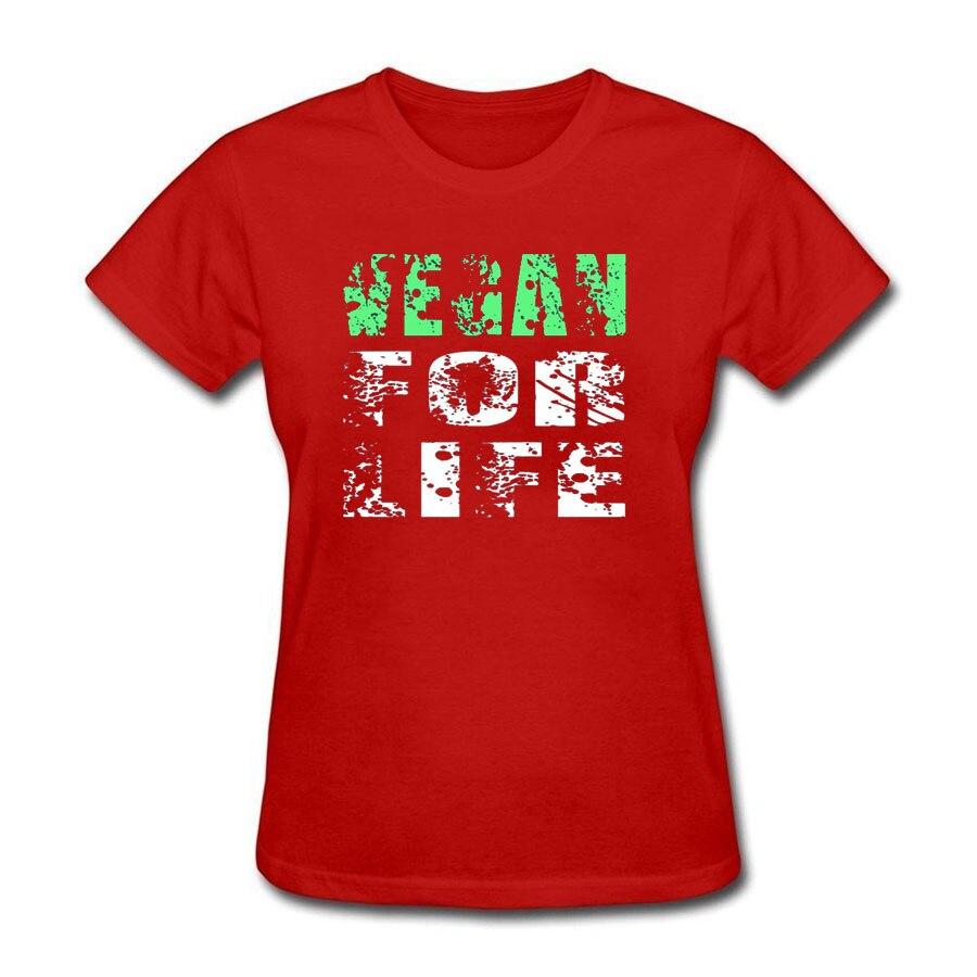 Vegan For Life Print Tee shirt Femme 18 Summer Short Sleeve Loose T-shirt Women Casual Large Size Cotton tshirt women tops 9