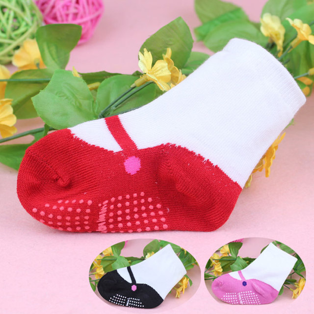 Newborn Baby Boys Girls Socks with Anti-Slip Soft  Infant Home Shoes Dancing Ballet Socks  Soft Comfortable Calcetines De Bebe