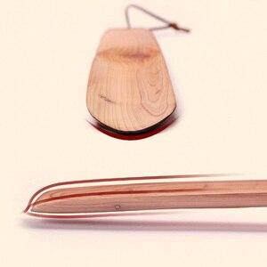 Image 3 - Youpin profissional durável natural de madeira fácil lidar com sapato chifre levantador ferramenta casa sapatos de artesanato para grávidas