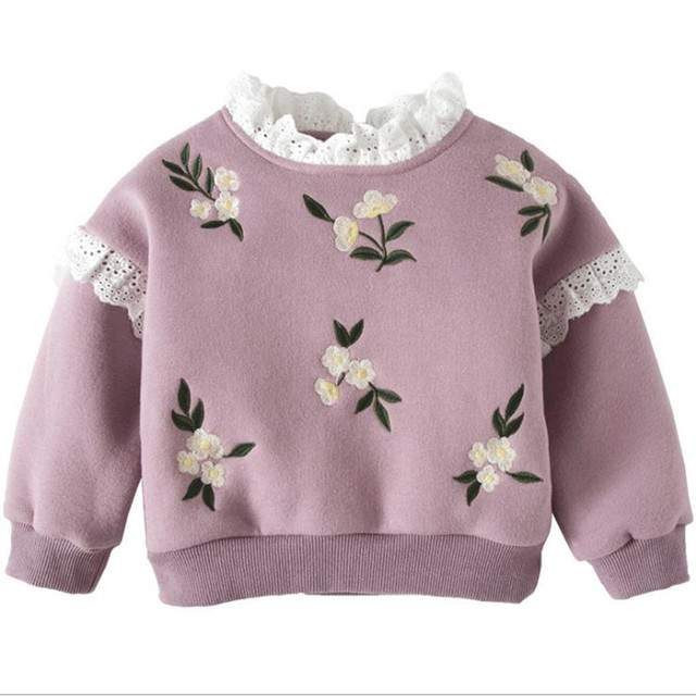 55ca6f2fe DFXD Baby Girl Winter Clothes Cotton Hoodies Fashion Embroidery ...