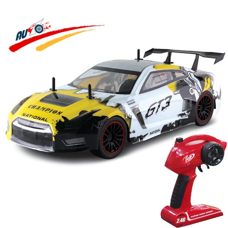 RC автомобилей для GTR GT3 2,4 г 1:10 дрейф автомобиль Высокое Скорость Чемпион радио Управление 2WD модель автомобиля Электрический RTR детей хобби и...