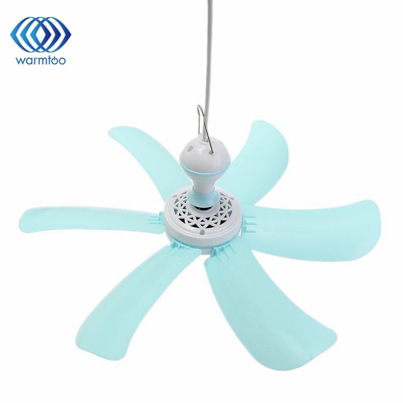 Fan Ceiling Electric : Blue v w leaf blades household cm small mini