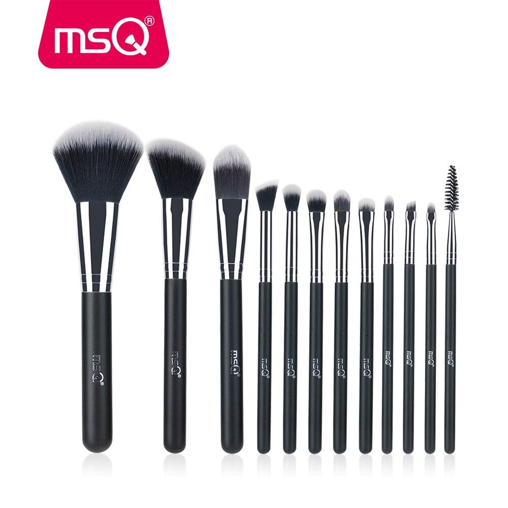 MSQ Professionale 12 pz Spazzola di Trucco di Alta Qualità Fondotinta In Polvere Shader Eye Make Up Tools Per Classic
