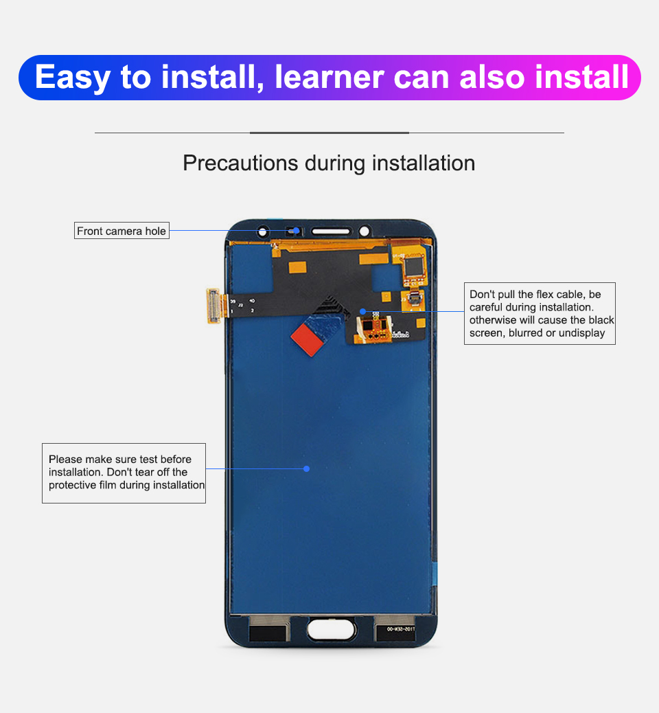 J4 Display Touch Screen Digitizer Assembly For Samsung Galaxy J4 2018 J400 j400F LCD Display J400F/DS Display Screen Replacement