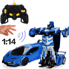 1:14 Newly Gesture Sensing Transform Car Men Remote Control Car Toy Lamborghini & Bugatti 360 Degree Rotation Toys For Chidlren(China)
