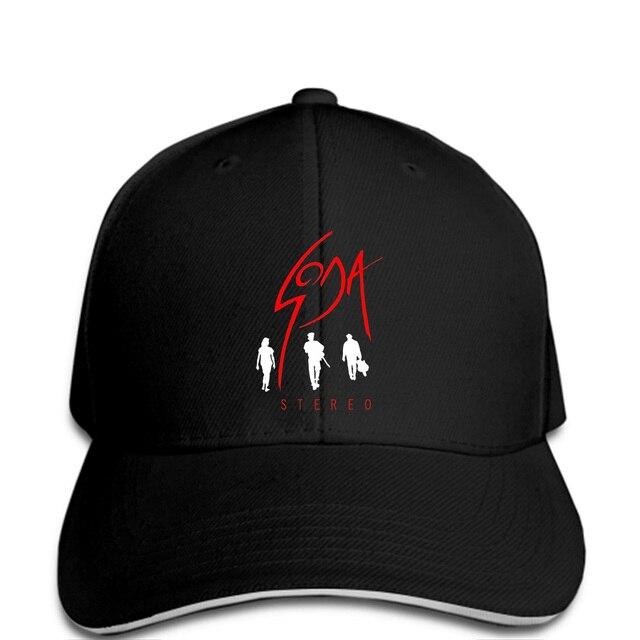 2384567a0aa Men Baseball cap Soda Stereo Black Printed Graphic snapback Hat novelty  tsnapback women