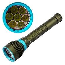 12000 LM XM-7 * T6 Diver Подводный СВЕТОДИОДНЫЙ Фонарик Факел Света для 3×18650 или 26650 батареи Оборонительных тактический фонарик