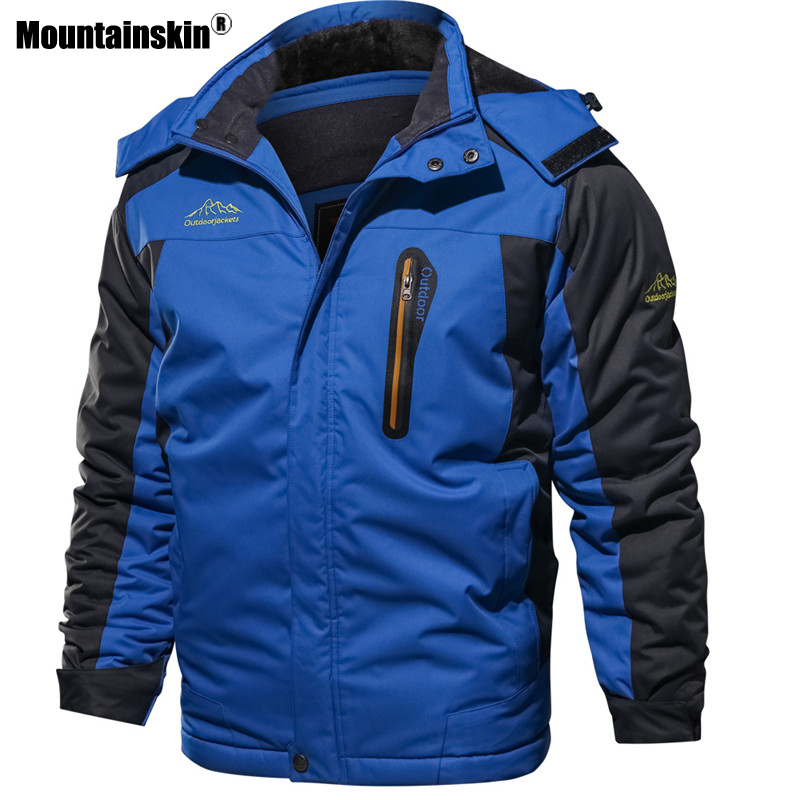 Image 4 - Mountainskin New Winter Men's Parkas Thick Fleece Warm Coat Men Jackets Hooded Coats Mens Brand Clothing Plus Size 7XL 8XL SA603-in Jackets from Men's Clothing