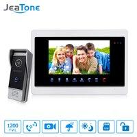 JeaTone 7 Touch Panel Monitor Video DoorPhone Unlocking Monitoring Taking Pictures Intercom HD 1200TVL Doorbell Outdoor