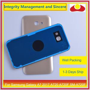 Image 5 - Orijinal Samsung Galaxy A7 2017 A720 A720F SM A720F batarya muhafazası kapı arka arka kapak kasa şasi kabuk değiştirme
