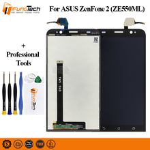 New LCD For ASUS Zenfone 2 ZE550ML Display Touch Screen with Frame Replacement For ASUS Zenfone 2 ZE550ML LCD Display Z00BD tested 5 5 for asus zenfone 2 ze550ml lcd display touch screen digitizer assembly replacement part free shipping