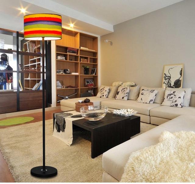 US $99.36 29% OFF|Modern Floor Lamps LED lampara de pie for Living room  bedroom Home Lighting Fixture staande lamp Fabric Floor Lights Bar Hotel-in  ...