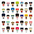 1 Sheet Korea Funny Small Soldier Cartoon Sticker Cute Epoxy Stickers For Diary Scrapbook Book Decoration Phone Sticker