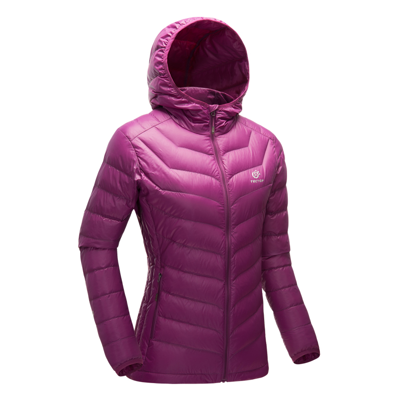 все цены на Autumn Winter Outdoor Sport Women Hiking Down Jackets Climbing Camping Lightweight Thermal Hooded White Duck Down Coats