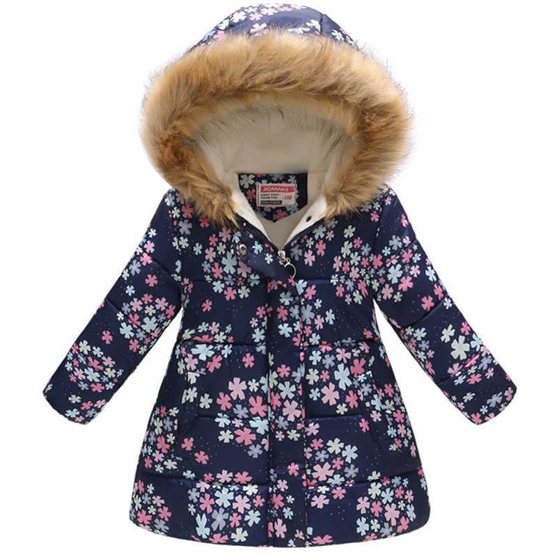 เด็กทารกฤดูหนาว Thicken Hooded ปลอมขนดอกไม้แมวเสื้อเด็ก Outerwear เสื้อผ้าเด็กคริสต์มาส Snowsuit Coat