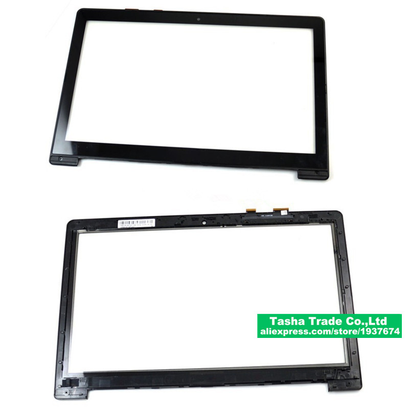 15.6 Touchscreen for ASUS S500 S500C Touch Screen Panel Digitizer Glass with frame Replacement shipping free TCP15F81
