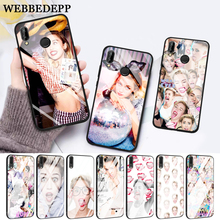 WEBBEDEPP Miley Cyrus Soft Rubber Glass Case for Huawei P10 lite P20 Pro P30 P Smart honor 7A 8X 9 10 Y6 Mate 20