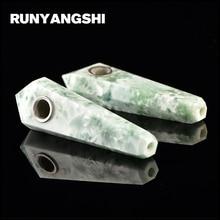 Runyangshi Crystal Smoking Pipe Strainer Quartz Stone Snowflake Healing Wand 1 Pc Smoke High Quality YX11