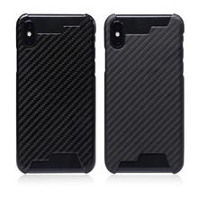 Aggiornamento Non Influenza Il Segnale 100% Reale In Fibra di Carbonio Mezza Cassa bordo Ultra light Cover Per iPhoneX XR XS MAX 8 7 6s Caso di Carbonio