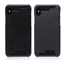 La actualización no afecta a la señal 100% carcasa de medio Borde de fibra de carbono Real, funda ultraligera para iPhone ex XR XS MAX 8 7 6s, funda de carbono