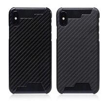 Mise à niveau naffecte pas le Signal 100% fibre de carbone réelle demi bord housse Ultra légère pour iphone XR XS MAX 8 7 6s boîtier en carbone